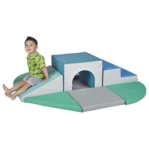 ECR4Kids SoftZone Lincoln Tunnel Foam Climber - Indoor Active Play Structure for Toddlers and Kids - Soft Foam Play Set, Contemporary ()