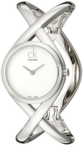 Calvin Klein Women's K2L24120 Enlace Analog Display Swiss Quartz Silver Watch