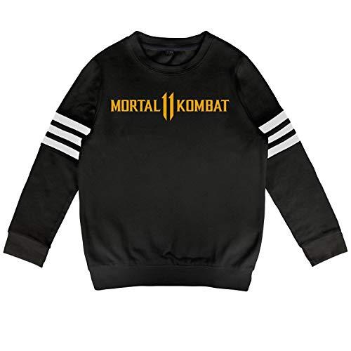 Kid Mortal-Kombat-11- Sweatshirt Long Sleeve Costume for Boys Or Girls ()