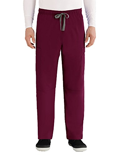 Grey's Anatomy Men's Size Modern Fit Cargo Scrub Pant, Bahama, Large Tall