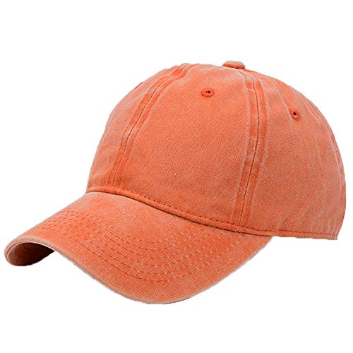 Kekebag Unisex Washed Cotton Baseball Caps Adjustable Plain Dad Hat
