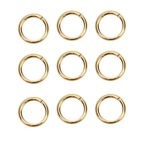 WSSROGY 20pcs 14K Gold Filled 5mm Open Jump Rings Jewelry Connectors Chain Links