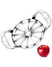Cookfree Apple Slicers, 12-Blade Extra Large Apple Corer Peeler, Upgraded 2021 Stainless Steel Ultra-Sharp Apple Cutter, Fruit Corer & Slicer, Divider, Wedger, Decorer Tool for Up to 4 Inches Apples