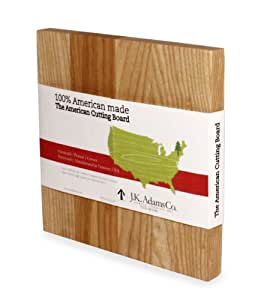 J.K. Adams Ash Wood American Collection Cutting Board, Square, 10-inches
