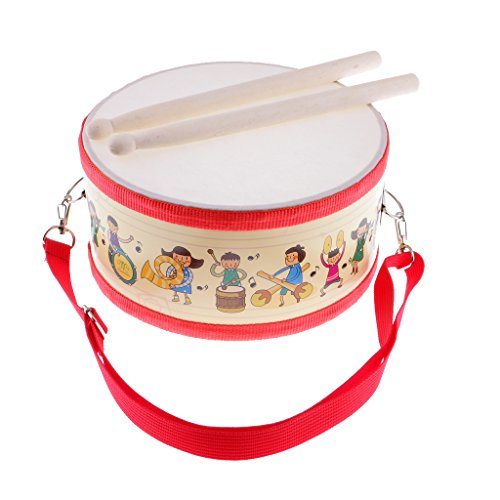 MonkeyJack Durable Polyester Snare Drum Hand Percussion Set for Kids Musical Instrument Educational Toys