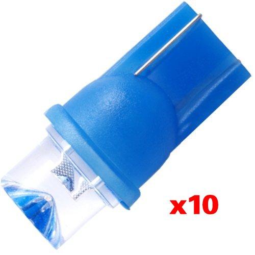 Dcolor 10 X T10 W5W 168 194 Blue LED Car Side Light Bulb Lamp