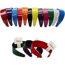 2 Inch Wide Headbands - Hard Headband W/Inner Teeth -12 pieces by CoverYourHair