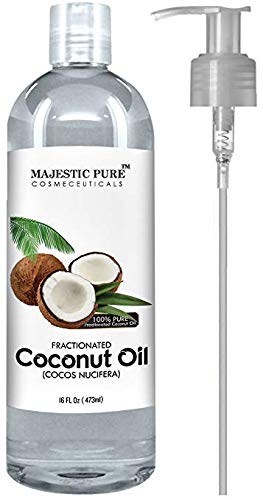 Majestic Pure Fractionated Coconut Oil, For Aromatherapy Relaxing Massage, Carrier
