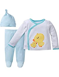 Gerber Unisex Baby 3-Piece Take Me Home Set Sleepwear, Neutral, NB