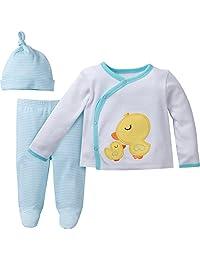 Gerber Unisex Baby 3-Piece Take Me Home Set Sleepwear, Neutral, 0-3M