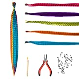 SARLA Hair Feathers Extensions Kit Mixed Color 50