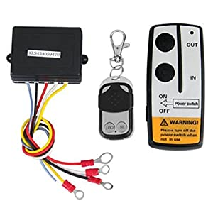 shsyue 2PCS Wireless Winch Remote Control Kit 12V for Truck Jeep SUV ATV 50Ft