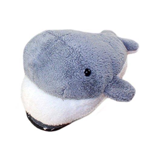 M&A Tierhausschuhe Delfine Grau Einheitsgröße(36-38)