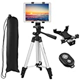 """Best Ipad Tripods - Tablet Tripod, PEYOU 42"""" inch Portable Lightweight Adjustable Review"""