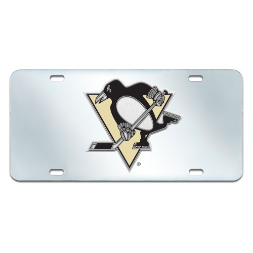 FANMATS NHL Pittsburgh Penguins Plastic License Plate (Inlaid)
