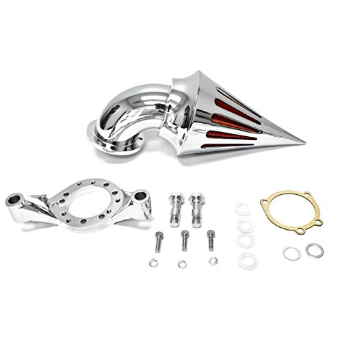 Krator Motorcycle Chrome Spike Air Cleaner Intake Filter For Harley Davidson CV Carburetor Delphi V-Twin Harley Davidson Motorcycle Carburetor