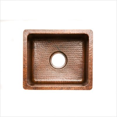 Gourmet Rectangular Hammered Copper Bar Sink in Oil Rubbed Bronze by Premier Copper Products