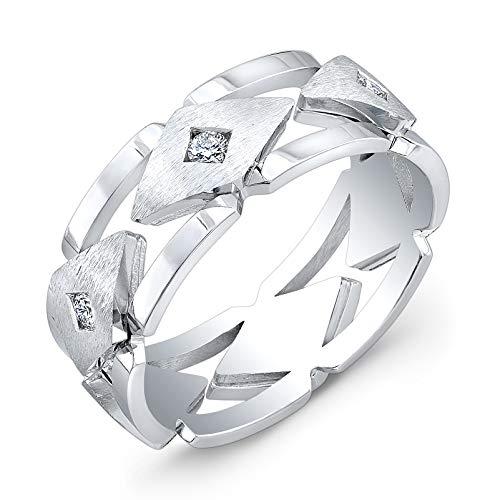 (Men's Platinum diamond wedding band 0.33 ctw )
