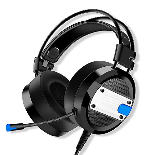XSH Gaming Headphone Gaming Headsets 3.5Mm Wired Over Ear Headphones Noise Canceling Sport Earphone with Microphone for Gamers Laptop Mac Nintendo Switch Games(Black),B (Gta 5 Earphones)