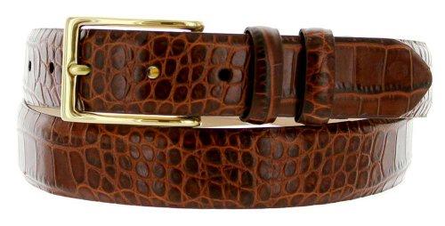 Brown Calfskin Belt (Adam Men's Genuine Italian Calfskin Leather Dress Belt 30mm or 1-1/8