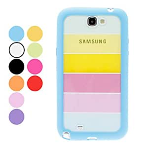 get Colorful Transparent Hard Case for Samsung Galaxy Note 2 N7100 (Assorted Colors) , Pink