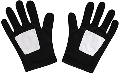 Rubie's Marvel, Ultimate Spider-Man Black Child Gloves (Mens Black Spiderman Costume)