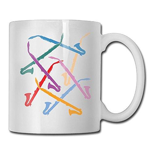 (FOOOKL Colorful Alto Clarinets 11oz Tea Cup Coffee Mug)