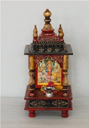 cf5d35c68 Raj Laxmi's Wooden Vintage Home Temple for home/Rajasthani vintage Wooden  Temple/ Pooja Mandir