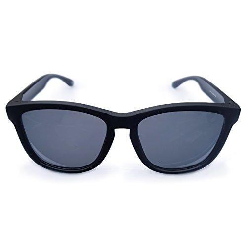 Sapphire Para Gafas y Sol Espejo sunglasses Mujer Hombre Negro de Polarizadas restorer Lentes con Colores y sin y Gris Isora Green x1qxB0Awz