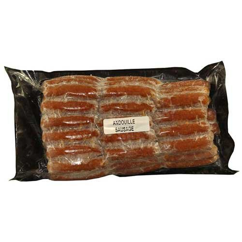 Syracuse Smoked Andouille Fully Cooked Mini Sausage Link, 10 Pound -- 1 each.