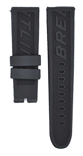 212ZTD 24mm Black Rubber Breıtlıng fit for Super Avenger 122S Replacement Watch Band Strap Free Spring BAR Tool BRT103