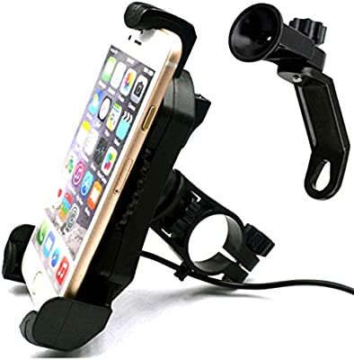 Leepiya Universal Bicycle Cell Phone Holder Install on Handlebar for iPhone X 8 7 6 5 Plus Bike Phone Mount with Quickly Take Off Interface Galaxy S9 S8 S7 S6 Plus and All 3.5 to 6 Mobile Phone//GPS LBSP-006