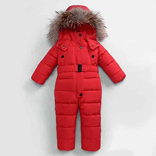 228148755 -30 Degree Winter Jumpsuits Outdoor Wear Kids Ski Suit Children Down  Rompers Real Hooded Warm