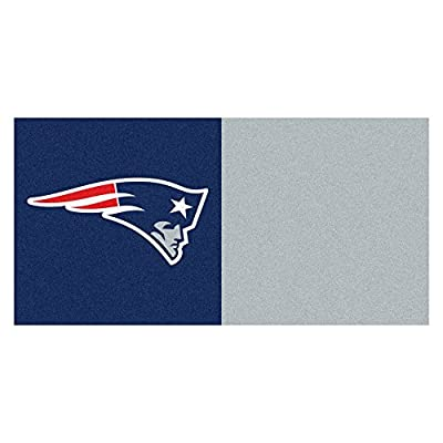 FANMATS NFL New England Patriots Nylon Face Team Carpet Tiles
