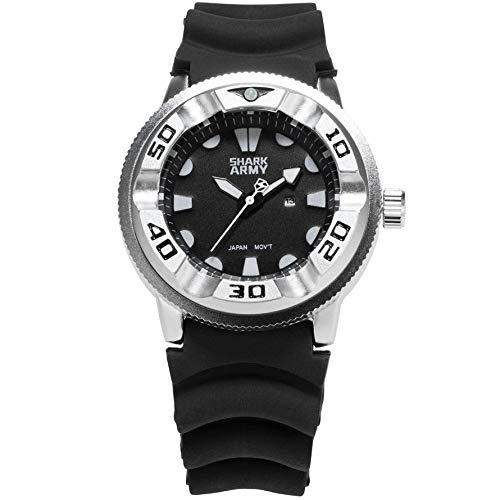 Silver Shell Black White Needle Black Tape with Calendar Quartz Watch Fashion Watches Wristwatch Designer Clock