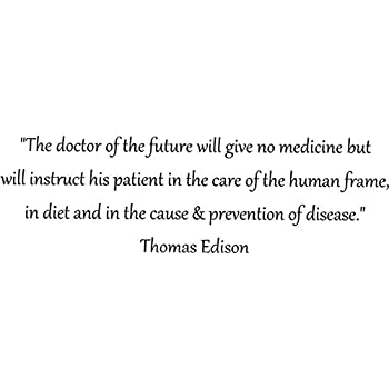 Amazoncom The Doctor Of The Future Thomas Edison Quote Walls With