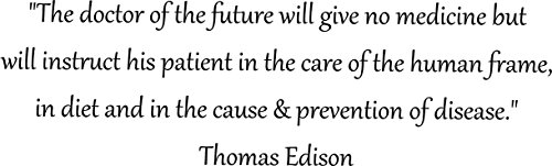 The Doctor of the Future Thomas Edison Quote, Walls with Style, Chiropractic Offices, Homeopathic walls sticker (Black, Large 54'' by 16'') by Walls with Style