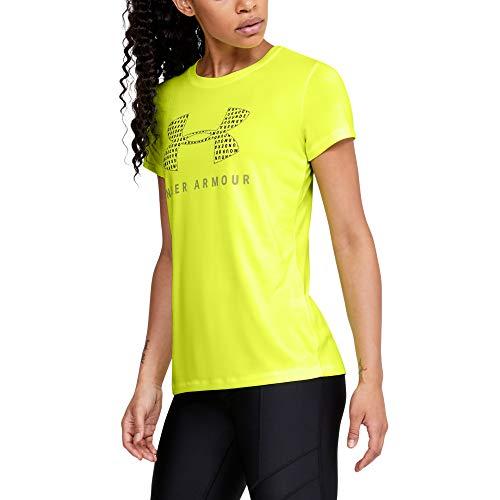 Under Armour Women's Tech Logo Graphic Crew Neck Short Sleeve T-Shirt