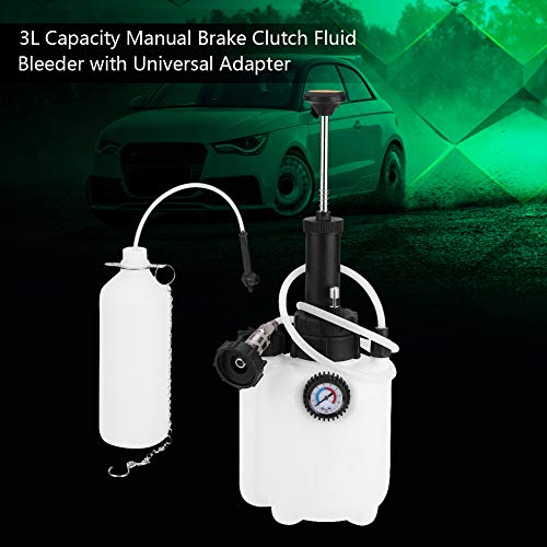 Yosooo Manual Brake Bleeder, 3L Capacity Clutch Fluid Bleeder Bleeding Tool with Universal Adapter by Yosooo (Image #2)