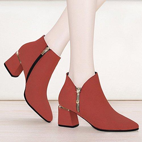 Chaussures Chaussures en Talons Bouche femme Marron Chaussures Printemps Simples Taille Hauts Noir Cuir Pointés HWF Femmes Chaussures Marron Shallow Couleur Femmes 35 wS0gnqE