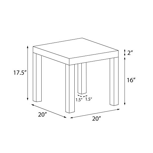 Bon Amazon.com: DHP Parsons Modern End Table, Multi Use Toolless Assembly, Dark  Espresso: Kitchen U0026 Dining