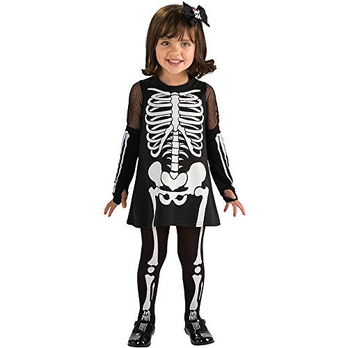 Rubie's Skeleton Girl Toddler Halloween Costume 885196-T -