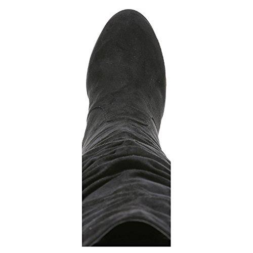 Carlos Di Carlos Santana Womens Delia Slouch Boot Nero Microfibra