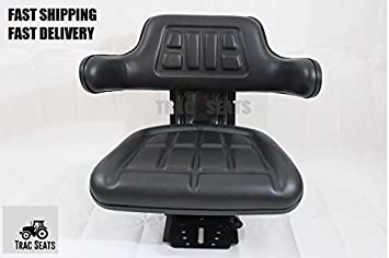 BLACK FORD / NEW HOLLAND 2N, 8N, 9N, NAA, JUBILEE TRAC SEATS BRAND WAFFLE STYLE UNIVERSAL TRACTOR SUSPENSION SEAT WITH TILT (SAME DAY SHIPPING - GET IT FAST!! VIEW OUR TRANSIT MAP)