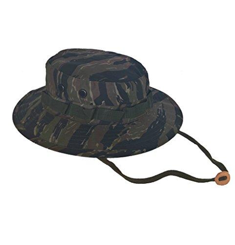 Army Navy Shop UV Protective Boonie Hat Tiger Stripe Camo Size 7.75