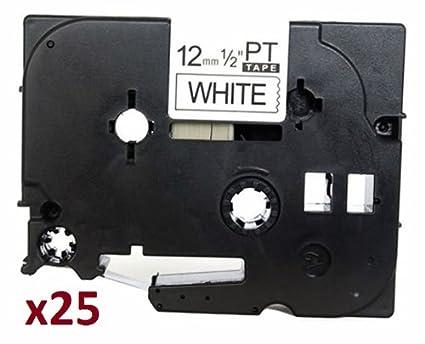 2 x TZe231 12mm x 8m Schriftbandkassetten Schwarz auf wei/ß Etikettenband kompatibel zu Brother P-Touch PT-1000 1005 1010 3600 D200 D210 D210VP D600VP E100 E550WVP H101C H105 H110 H300 H500 P700 P750W