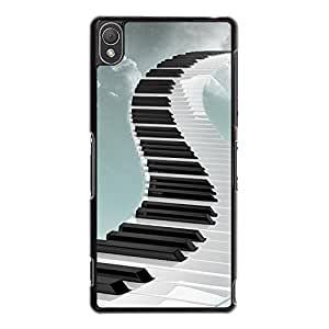 Creative Fashion Design Musical Instruments Piano Keys Phone Case Cover for Sony Xperia Z3 Piano Special