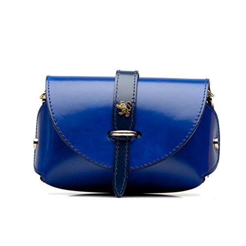 Pratesi Buonconvento borsetta da donna in vera pelle - R331 Radica (Nero) Blu Elettrico