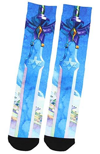 The Legend Of Zelda Skyward Sword Sublimated Crew Socks Mid-Calf