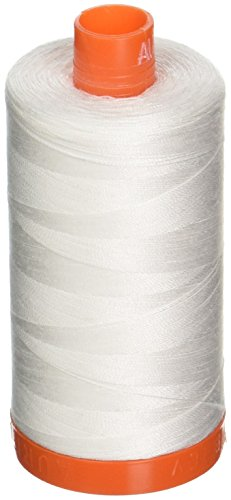 Aurifil A1050-2021 Mako Cotton Thread Solid 50WT 1422Yds Natural White -